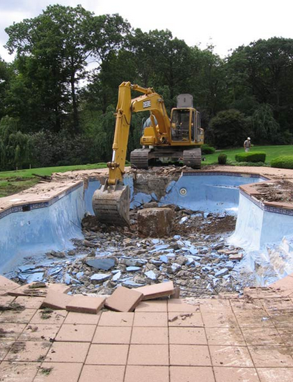 pool removal example north dallas area highland park