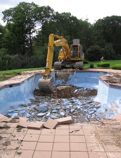 pool removal example